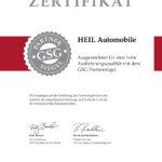 Auszeichnung GSG - HEIL Automobile