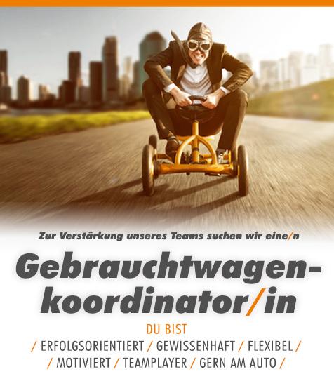 Komm ins Team: Gebrauchtwagenkoordinator/in