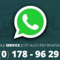 Service jetzt via Whatsapp verfügbar