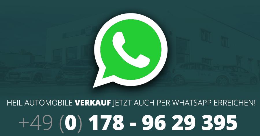 Verkauf jetzt via Whatsapp erreichbar